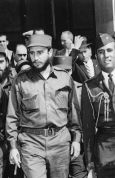 Fidel Castro during a visit to Washington, DC
