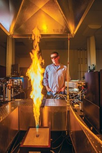 Studying jet flames with laser diagnostics.
