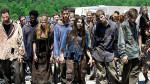 Mob of zombies walking