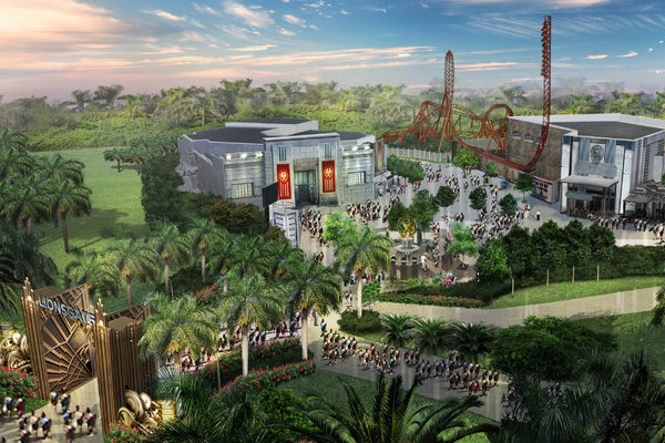 Rendering of a possible Hunger Games theme park.