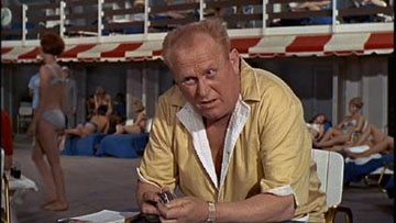 Goldfinger: Look closely, Fontainebleau is in the background, but the the actor is sitting in London.