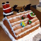 Christmas-themed cake by Anna Cakes