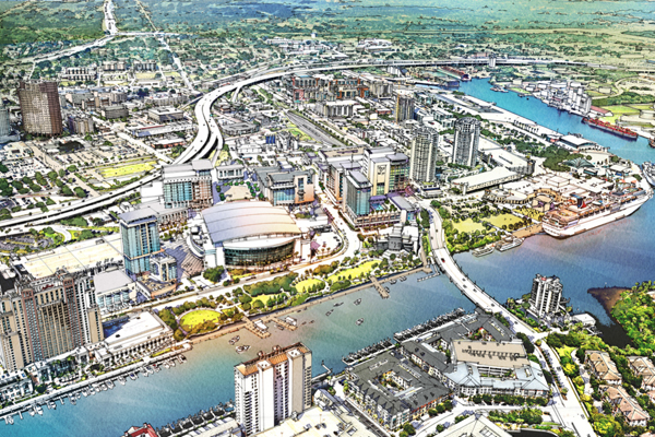 Downtown Tampa rendering