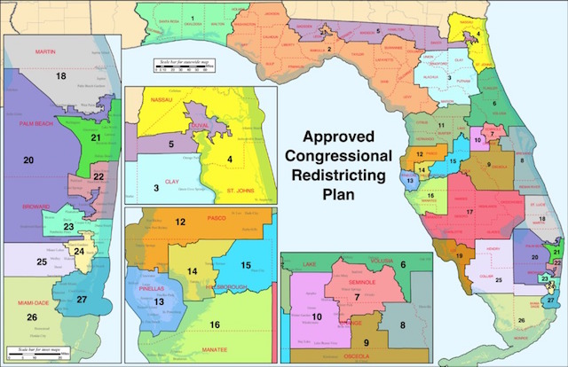 State map of the approved congressional redistricting plan