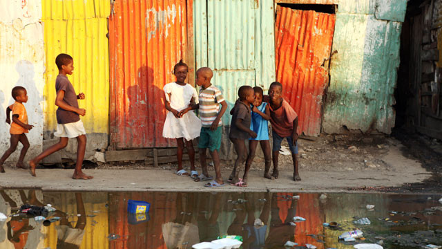 Children playing in Haiti