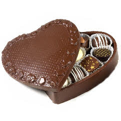 Schakolad's chocolate heart box