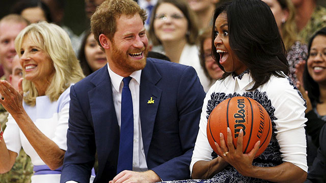 Prince Harry with FLOTUS