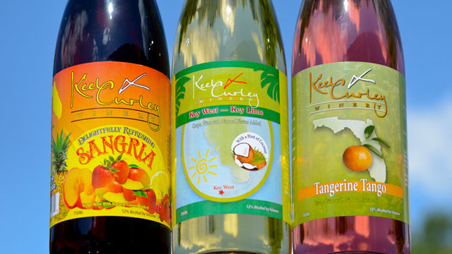 Keel offer a taste of Florida with the large selection of wines.