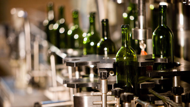 wine bottles production line