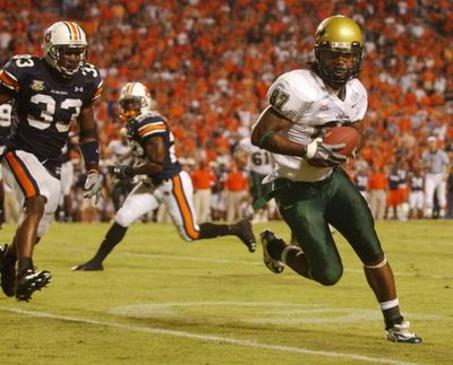In 2007, USF upset SEC power Auburn and climbed to No. 2 in the AP poll.